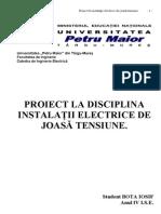 PROIECT-LA-DISCIPLINA-INSTALAŢII-ELECTRICE-DE-JOASĂ-TENSIUNE