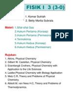 Kimia Fisik 1