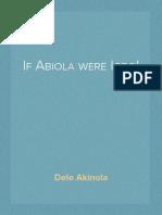 If Abiola were Igbo!