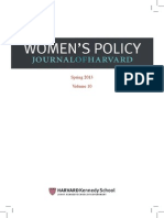 Women Policy Journal Harvard '13