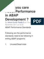 Performance in ABAP Development