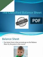 11. the Classified Balance Sheet