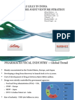 Eli Lilly Ranbaxy Joint Venture Case Study