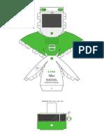 iMac G3 Lime Papercraft