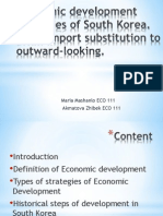 Economic Development Strategies of South Korea (2)