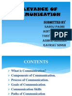 Relevance of Communication