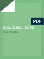 Inaugural Jives