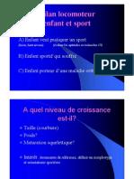 Bilan Locomoteur Enfant Et Sport