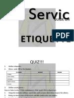 Service Etiquette Final