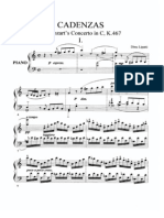 Mozart - Concerto No 21 K467 Cadenzas (Dinu Lipatti)