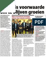 Het Nieuwsblad - 29/11/2013 - Export is Voorwaarde Om Te Blijven Groeien