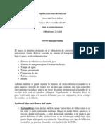 Informe Banco de Prueba