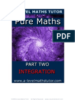 E-Book 'Pure Maths Part Two - Integration' from A-level Maths Tutor