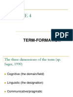 Course 4 - Term Formation