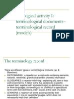 Course 7 Terminological Activity I Term Record
