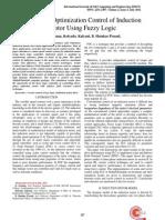 Efficiency Optimization Control of Induction Motor Using Fuzzy Logic