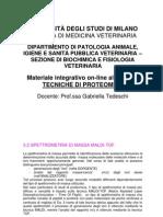 3.2 Spettrometria MALDI-ToF