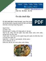 Hướng dẫn món Ốc nấu chuối đậu