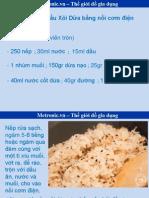 Hướng dẫn nấu Xôi Dừa bằng nồi cơm điện