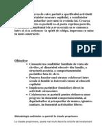 Metodologia Sedintelor Cu Parintii La Clasele Preprimare