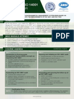 Certified ISO 14001 Lead Auditor - Two Page Brochure