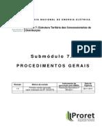 PRORET Submódulo 7 1 - Procedimentos Gerais