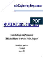 VGSM Manufacturing Strategy - Jan 2011