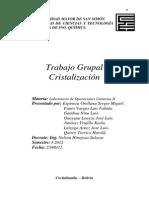 Trabajo Teórico Grupal - Cristalización