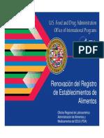 Renovacion Registro FDA