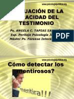 EVALUACIÓN DE LA VERACIDAD DEL TESTIMONIO.ppt