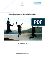 Studiu Privind Situatia Adolescentilor Din Romania