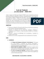 """Plan de Trabajo - """"Todos Somos Gestión"""" al CEGAD 2014"""