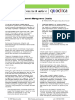 Records Management Quality