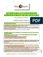 Revisão para o concurso da DPE-SP