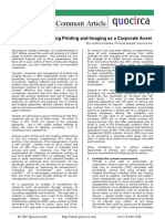 Recognising printing and imaging as a corporate asset