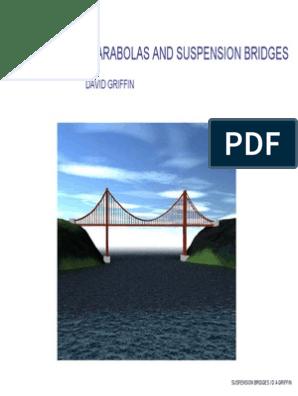 Maths_Catenaries, Parabolas and Suspension Bridges