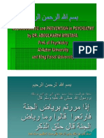 Religion & Prevention in Psychiatry