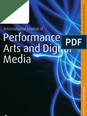 International Journal of Performance Arts and Digital Media