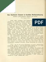 Cohn - Die Kantische Element in Goethe