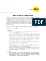 Requisitos de Codificacion