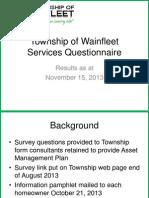 Wainfleet survey results