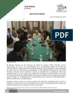 27/11/13 REUNIÓN CON LA COORDINACIÓN ESTATAL DE PUEBLOS DE OAXACA