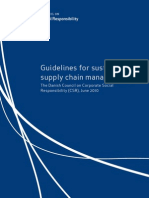 Guidelines for Sustainable Supply Chain Management