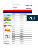 Listado de Comercios Afiliados - Provincias Sin Macros