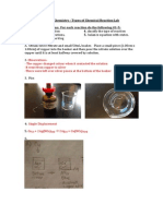 unit 3 chemistry types of reactions lab