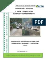 Instalacion de puente vehicularsobre Río Pichari