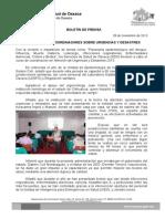 28 /11/13 CAPACITÓ SSO A COORDINADORES SOBRE URGENCIAS Y DESASTRES