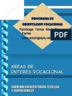 Areas de Interes Vocacional