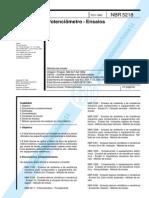 NBR-5218 - Potenciômetro - ensaios