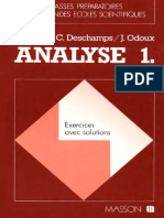 Cours de Mathematiques Speciales - Exercices Analyse Tome 1